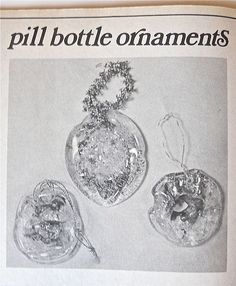 you take a plastic pill bottle, fill it with glitter and sequins, and bake it until it melts. To add color, you'd rub some lipstick or eyeshadow on the inside of the bottle.