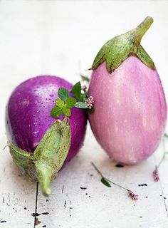 Eggplants are beautiful but the are my least favorite vegetable.  Right up there with okra. I guess I hate slimy as a texture.