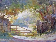 Landscape Watercolor Watercolour Painting | Our office is closed for holiday travel until the New Year. Happy ...
