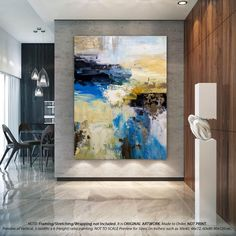 Extra large modern abstract painting by Studiowishful on Etsy