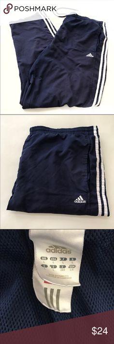 "ADIDAS classic stripe joggers sweatpants large Waist 36"" Rise 12"" Inseam 30"" adidas Pants Sweatpants & Joggers"