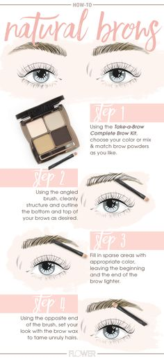 Sculpt, define and fill in sparse areas with one #FLOWERBeauty eyebrow palette Take a Brow Complete Brow Kit for perfect natural-looking brows.