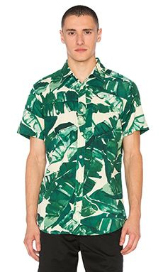 Deus Ex Machina Ralph Banana Shirt in Banana Leaf