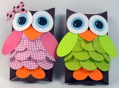 Owl Pillow Box...I could totally do this.