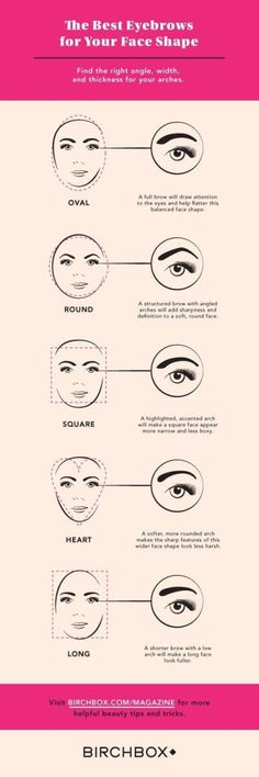 17 Genius Tricks For Getting The Best Damn Eyebrows Of Your Life Determine the best eyebrow shape for your face. – Das schönste Make-up Make Up Tricks, How To Make, Arched Eyebrows, Eye Brows, Eyebrow Tutorial, Tutorial Nails, Best Eyebrow Products, Beauty Products, Makeup Products