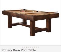Moderna pool table convertible dining table use j k to for Pottery barn poker table