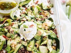 Découvrez la recette Courgettes au quinoa sur cuisineactuelle.fr.