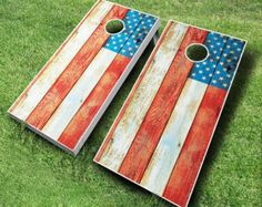 Distressed American Flag Cornhole Board Set by NapervilleBags