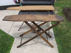 Wooden Ironing Boards are great to have on hand for parties, since they store flat when not in use.
