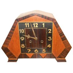 Amsterdam School Clock Art Deco   From a unique collection of antique and modern clocks at http://www.artdecocollection/clocks