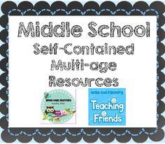 middle school, multi-age,multi-subject,multi-year classroom collaborative board for teachers