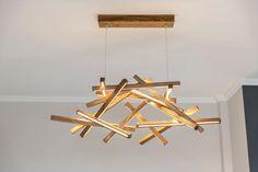 LED Wooden Chandelier - LED lamp - wood lamp - modern home deco - unique design - lighting - modern wood lamp - big size chandelier by NextLevelStudio on Etsy
