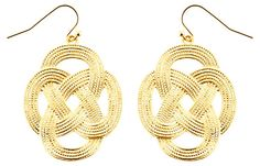 Gold-Plated Love Knot Earrings | The Perfect Pair | One Kings Lane