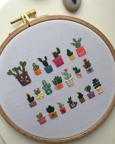 Woodworking Embroidery patterns cactus, how to tr. Hand Embroidery Patterns Free, Embroidery Flowers Pattern, Hand Embroidery Stitches, Embroidery Ideas, Simple Embroidery Designs, Embroidery Sampler, Ribbon Embroidery, Knitting Stitches, Cactus Embroidery