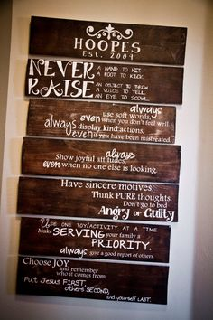 House Rules Wooden Signs Set of 7 by allisonhoopes on Etsy, $150.00 This would be amazing for classroom rules!!!