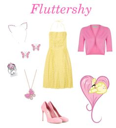 Fluttershy by cassy-jayme-walbourne on Polyvore Fluttershy, Disneybound, My Little Pony, Friendship, Cosplay, Magic, Polyvore, Outfits, Inspiration