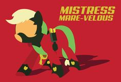 My Little Pony, Power Ponies Mistress Mare-Velous Poster Available at: https://www.etsy.com/listing/193346860/my-little-pony-minimal-apple-jack-as?ref=shop_home_active_16