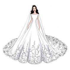 Meghan Markle's Wedding Dress Will Look Like This, According to These Designers' Sketches | Brides