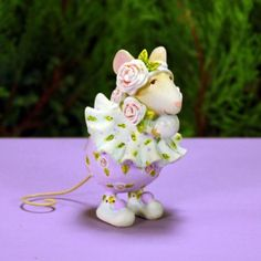 Dash Away Sophie Snowball Mouse Ornament