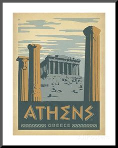 Athens, Greece Posters by Anderson Design Group - AllPosters.co.uk