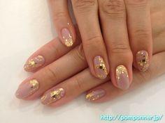 グレーっぽいパープルの大人っぽいワンカラーネイル one nail color of purple ish gray