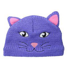 Regatta Great Outdoors Childrens/Kids Animally II Winter Hat (2-4 Years) (Peony). Kids animal design winter hat. Cosy fleece lining. Fabric: 100% Acrylic.