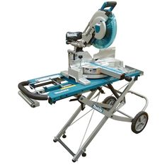 Makita 15 Amp 12 in. Dual Slide Compound Miter Saw with Laser and Stand