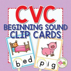 Use these CVC Beginning Sound Clip cards to help your kids hear and see the beginning sounds in words. They will love this hands-on early literacy activity. Sound Words, Cvc Words, Abc Activities, Articulation Activities, Early Learning, Learning Centers, Literacy Centers, Learning Spanish, Cvc Word Families