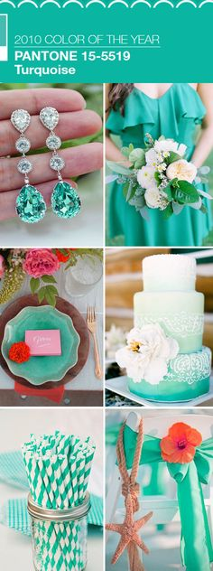 the best wedding color ideas in turquoise