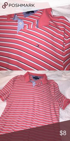 a066f8c41 Shop Men s Tommy Hilfiger Pink size XXL Polos at a discounted price at  Poshmark. Description  Men s Tommy Hilfiger coral