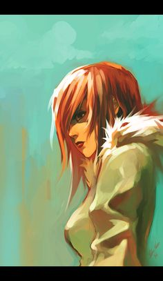 red haired girl by tobiee on deviantART