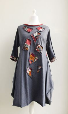 JUVENALIA Tunic Mini Dress Artistic Quirky Original by Converte, $80.00 this just may be my next order from Converte :)