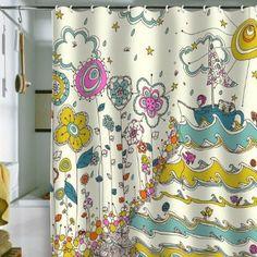 DENY Designs Rebekah Ginda Design Floating to The Edge Shower Curtain