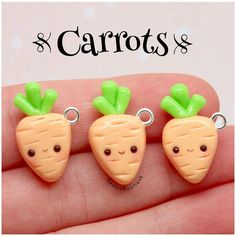 #kawaii #charms #polymer #clay #cute #carrots