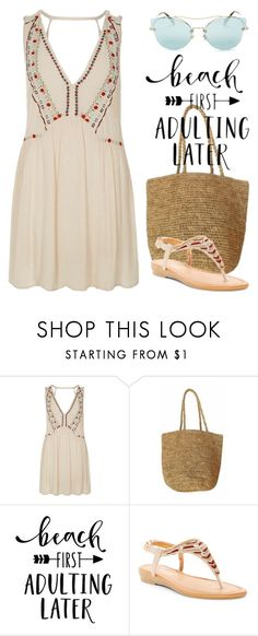 """""""Beach Style 4045"""" by boxthoughts ❤ liked on Polyvore featuring River Island, Kirei, DbDk and Miu Miu"""