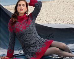 Платье вязаное с горлом - запись пользователя Лисик (Светлана) в сообществе Вязание спицами в категории Вязание для женщин спицами. Схемы вязания спицами