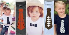 Tie and Bow Tie Onesies/Shirts -Sports Themes