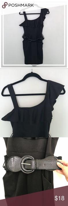 JOPPA SEXY BLACK MINI DRESS W/BELT It is an awesome dress for the girl on the go, professional during the day 👩🏻💻 and ready for a night out with the girls 👯♀️ Worn once ☝🏻 Smoke free house 🏡  No stains 🙅🏻♀️ Good condition 👌🏻  No trades ❌ Bundle for a better deal 😉  Fast Shipping 🛍 Open to reasonable offers 🧐 Thanks for shopping my closet ♥️ JOPPA Dresses Mini