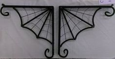 Custom SPIDER WEB Shelf Brackets by SecondChanceIronWork on Etsy