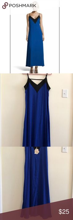Boohoo V-neck Cobalt Blue Dress New with tags Boohoo dress. V-neck, adjustable shoulder straps, lined, lightweight dress. I never get to wear this, didn't realize it was a long dress. I'm 5' and it touches the floor. Boohoo Dresses Maxi