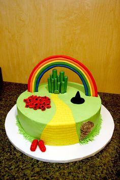 wizard of oz cake by ~pinkshoegirl on deviantART