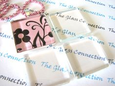 1 inch 120 Clear Flat  Smooth Glass Tiles Squares  Pendant Making 25mm by theglassconnection on Etsy