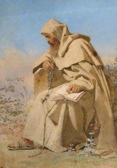 classic-art:  The Rosary Carl Haag, 1857