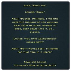 Adam and Louise (Colonist's Wife by Kylie Scott)