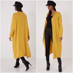 Yellow Maxi, Coatigan, Maxi Cardigan, Duster Jacket, Knitwear, Jumper, Winter Fashion, Clothes For Women, Womens Fashion