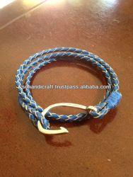 Rope Bracelet Fish Hook Bracelet Nautical Jewelry Leather Fish Hook Bracelet - Buy Hook Bracelet,Fish Hook Bracelet,Anchor Rope Bracelet Product on Alibaba.com