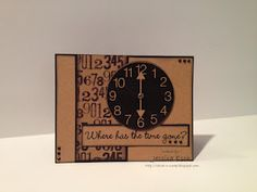 The Cutting Cafe~It's About That Time Printable Stamp Set and My Creative Time~ Sentiment Stamp