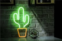 ''Cactus'' is a very neon sign for a gift or to decorate your room. ∙ Size 20 x x cm) ∙ Size x x cm) Your sign is coming with a dimmer and remote control. Neon Cactus, Cactus Light, Mini Cactus, Neon Signs Home, Led Neon Signs, Cactus Wall Art, Cactus Decor, All You Need Is, Neon Bedroom