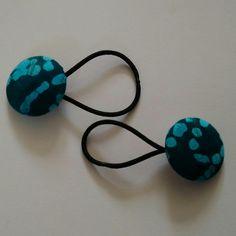 Blue Batik Design Hair Bobble Hair Bands £3.50