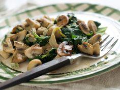 Spinach and Mushroom scramble